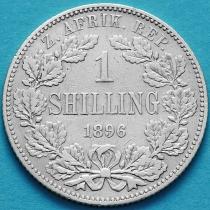 ЮАР 1 шиллинг 1896 год. Пауль Крюгер. Серебро.