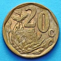 ЮАР 20 центов 1997 год.