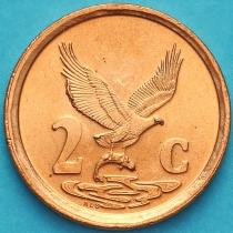ЮАР 2 цента 1998 год.