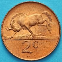 ЮАР 2 цента 1965 год. KM# 66.1