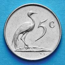 Лот 20 монет. ЮАР 5 центов 1970-1989 год.