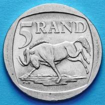 ЮАР 5 рандов 1995 год. Антилопа гну.