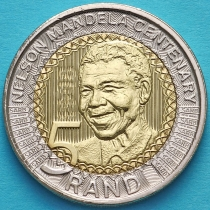 ЮАР 5 рандов 2018 год. Нельсон Мандела.