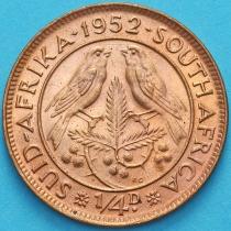 ЮАР 1/4 пенни 1952 год.