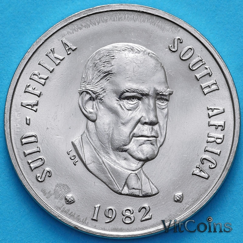 Монета ЮАР 20 центов 1982 год. Бальтазар Йоханнес Форстер.