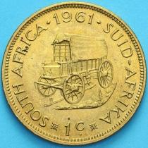 ЮАР 1 цент 1961 год.