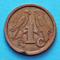ЮАР 1 цент 1991-1992 год.