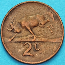 ЮАР 2 цента 1966 год.
