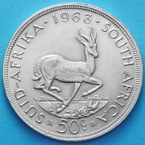 Южная Африка 50 центов 1963 год. Серебро.