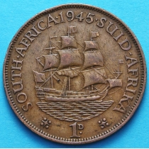"ЮАР 1 пенни 1937-1947 год. Корабль ""Дромедарис""."