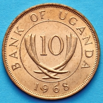 Уганда 10 центов 1968 год.
