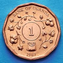 Лот 20 монет (ролл). Уганда 1 шиллинг 1987 год.