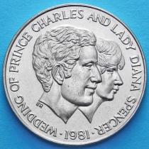 Уганда 10 шиллингов 1981 год. Свадьба Принца Уэльского леди Дианы Спенсер.