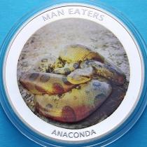 Уганда 100 шиллингов 2010 год. Анаконда