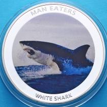 Уганда 100 шиллингов 2010 год. Белая акула