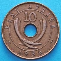 Британская Восточная Африка 10 центов 1936 год.