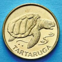 Кабо Верде 1 эскудо 1994 год. Черепаха