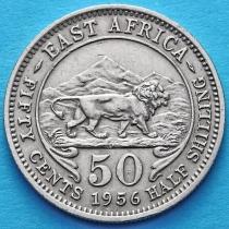 Британская Восточная Африка 50 центов 1956 год.