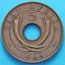Британская Восточная Африка 5 центов 1949 год.