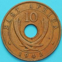 Британская Восточная Африка 10 центов 1942 год.