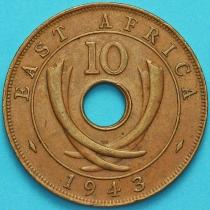 Британская Восточная Африка 10 центов 1943 год
