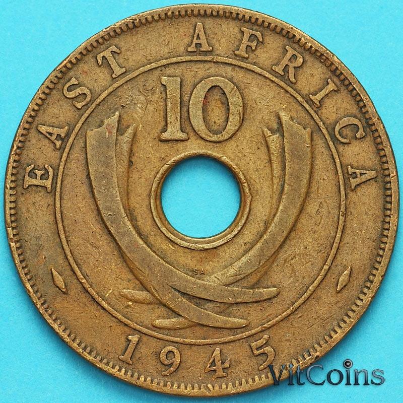 Монета Британская Восточная Африка 10 центов 1945 год
