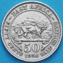 Британская Восточная Африка 50 центов 1954 год.