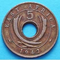 Британская Восточная Африка 5 центов 1942 год
