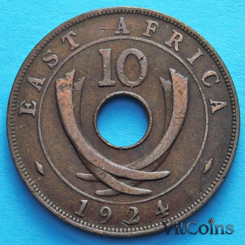 Монета Восточной Африки 10 центов 1922-1924 год