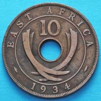 Британская Восточная Африка 10 центов 1934 год.