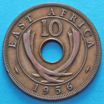 Британская Восточная Африка 10 центов 1956 год