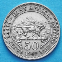Британская Восточная Африка 50 центов 1949 год.