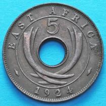 Британская Восточная Африка 5 центов 1924 год.