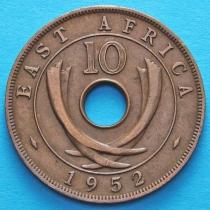 Британская Восточная Африка 10 центов 1952 год. Н