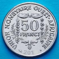 Западная Африка 50 франков 2012 год.