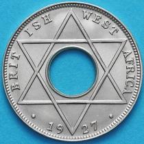 Британская Западная Африка 1/10 пенни 1927 год. Без отметки монетного двора