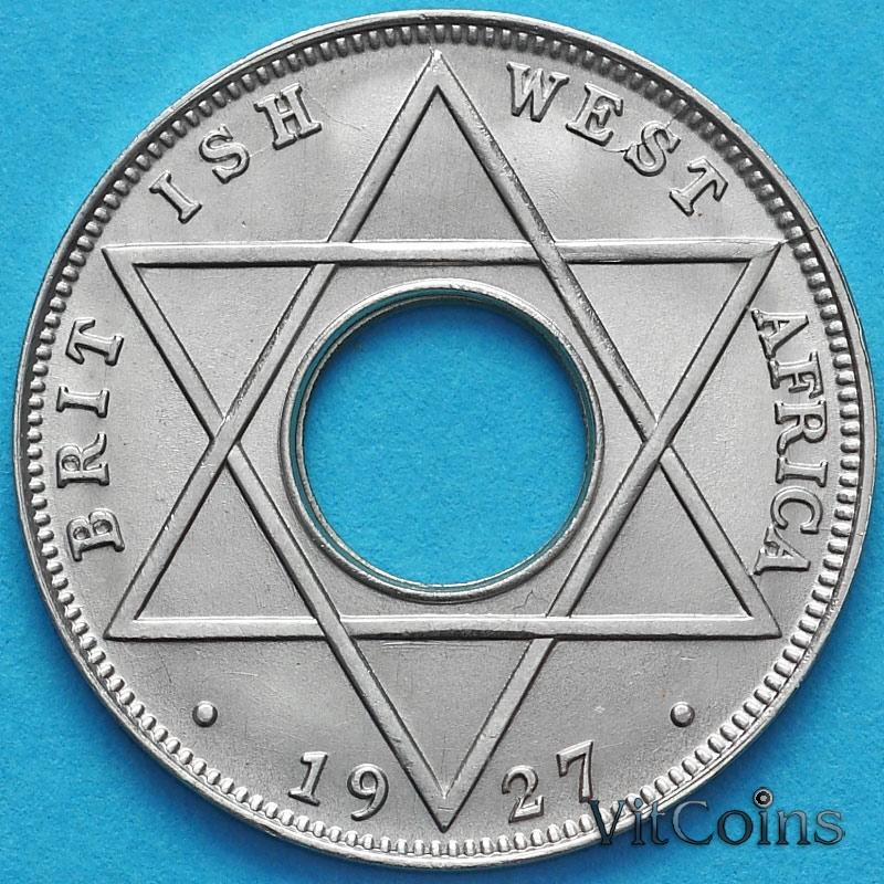 Монета Британская Западная Африка 1/10 пенни 1927 год.