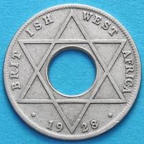 Британская Западная Африка 1/10 пенни 1928 год.
