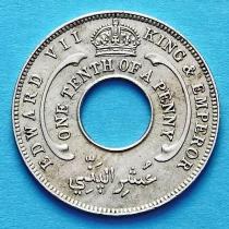 Нигерия, Британская Западная Африка 1/10 пенни 1908 год.