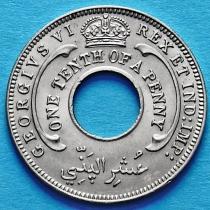 Британская Западная Африка 1/10 пенни 1940 год.