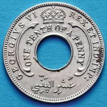 Британская Западная Африка 1/10 пенни 1944 год.