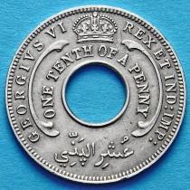 Британская Западная Африка 1/10 пенни 1947 год.