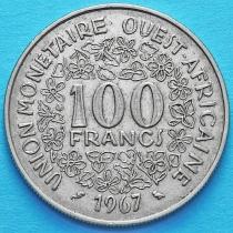 Западная Африка 100 франков 1967 год.