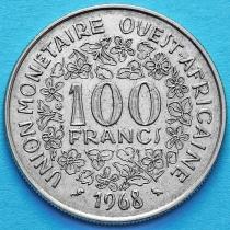 Западная Африка 100 франков 1968 год.