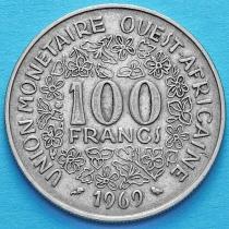 Западная Африка 100 франков 1969 год.