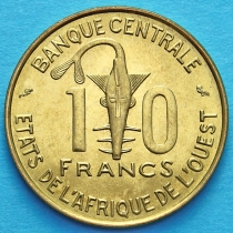 Западная Африка 10 франков 1971 год.