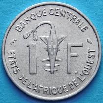 Западная Африка 1 франк 1961-1975 год.