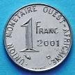 Монета КФА Западная Африка 1 франк 2001 год.