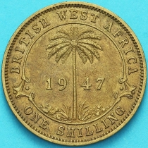 Британская Западная Африка 1 шиллинг 1947 год.