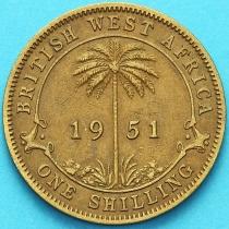 Британская Западная Африка 1 шиллинг 1951 год.